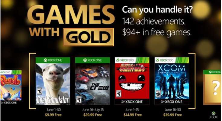 June 'Games with Gold' Xbox titles revealed