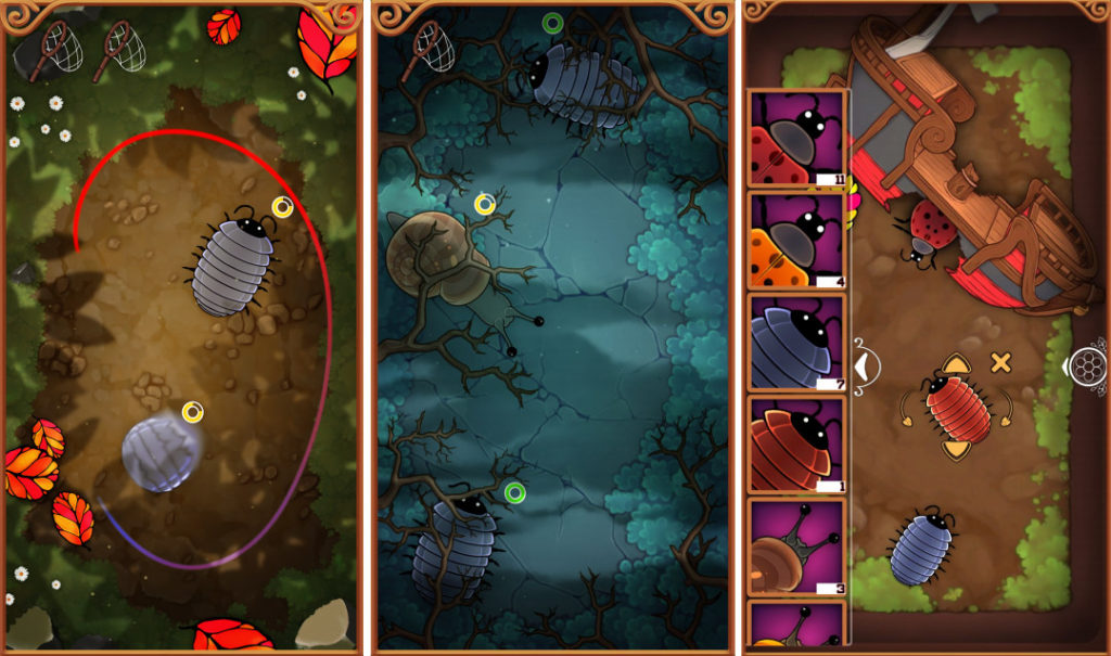 Critter Capture screenshots showcasing bug catching